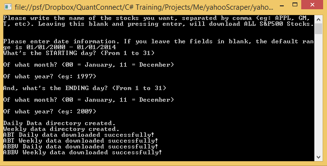 Downloading Yahoo Finance Data with C#   QuantConnect Blog